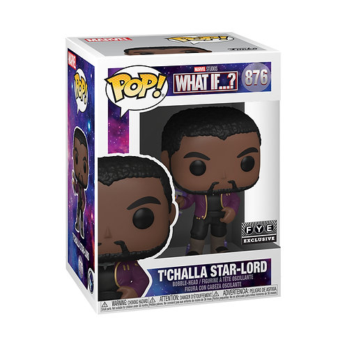 Funko Pop! Marvel What If T'Challa Starlord Unmasked FYE Exclusive