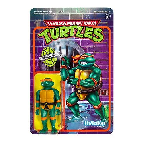 Teenage Mutant Ninja Turtles Michaelangelo 3 3/4-Inch ReAction PreorderFigure