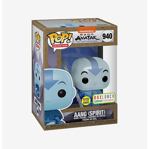 Funko Pop Animation Avatar The Last Airbender Aang Spirit GITD Box Lunch Excl