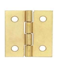 """Brass Plated Butt Hinge - 1-1/2"""" x 1-1/2"""""""