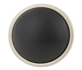"Ceramic Brushed Pewter w/ Black Insert Betsy Fields Knob - 1 3/8"""