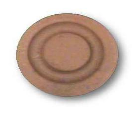 """Ceramic Unglazed Brown Terra Cotta Knob 1-1/4"""""""