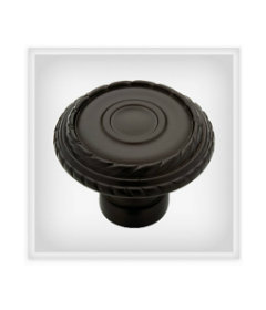 Dark Oil Rubbed Rustique Laurel Knob - 1-3/8""