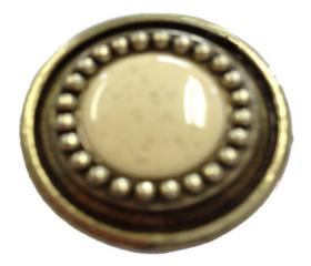 "Antique Brass Oatmeal Ceramic Beaded Sundial Knob 1-1/4"""