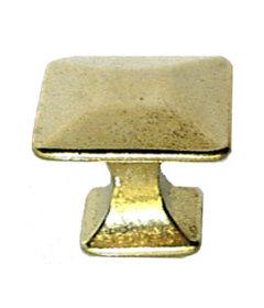 Brass Arts & Crafts Mission Pyramid Knob