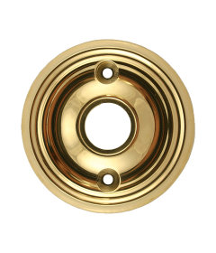 "Brass Round Backplate Set  2-3/4"""