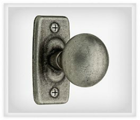 """Pewter Backplate Tumbled Ironcraft Knob 1 1/4"""""""