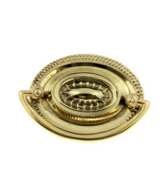 Solid Stamped Brass Hepplewhite Style Oval Bail Large Pull - 3""