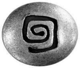"Antique Silver Southwestern Knob 1"""
