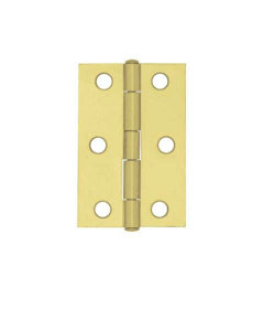 """Brass Plated 6 Hole 2 Per Butt Hinge - 2-1/2"""""""