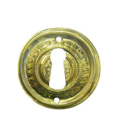 Stamped Brass Victorian Style Keyhole Cover