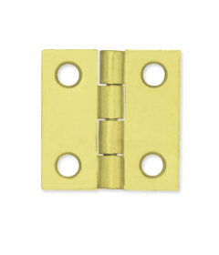 "Brass Plated Fast Pin Pair of Butt Hinges - 1"" X 1"""