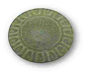 """Ceramic Slate Green Knob - 1-3/8"""""""