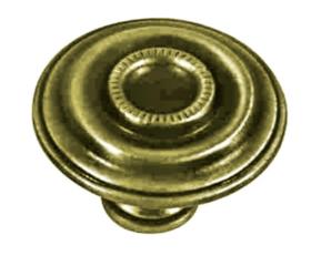 "Antique Brass Decorative Knob 1 9/16"""