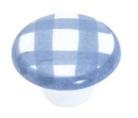 "White Ceramic Knob - 1-1/2"""