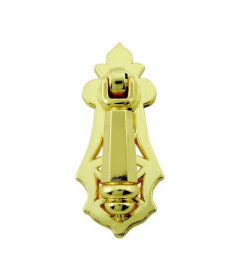 Polished Brass Drop Pull - 2 5/8""