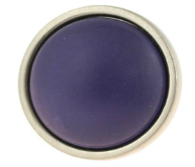 Satin Nickel Ceramic Betsy Fields Plum knob - 1 3/8""