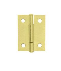 """Brass Plated Butt Hinge - 2"""" x 1-1/2"""""""