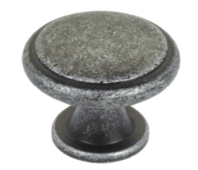 """Antique Silver Knob 1"""""""