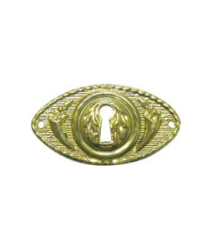 Stamped Brass Keyhole Cover