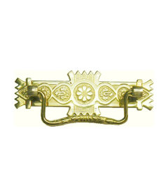 Stamped Brass Victorian Eastlake Style Bail Pull