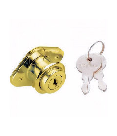 Brass Plated Drawer Lock 2 Keys