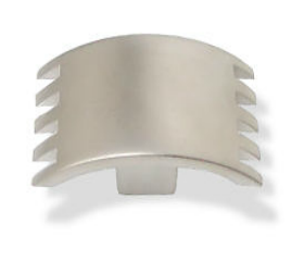"Matte Nickel Sector Collection Knob  2"" x 1"""