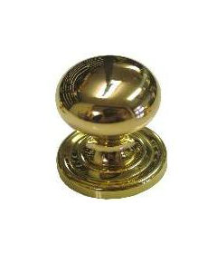 """Solid Brass Large Bulbous Cupboard Turn with Latch Finger Knob 1 1/4"""""""