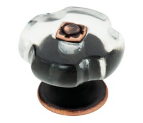 "Bronze Copper Highlights Oil Rubbed Mateus Knob 1-1/4"""