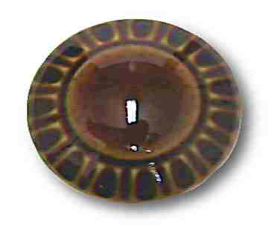 "Ceramic Glossy Coffee Brown Knob - 1-3/8"""
