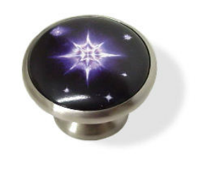 "Star Filled Night Sky Knob - 1 5/8"""