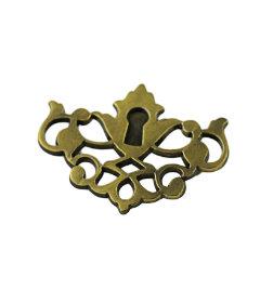 Antique English Faux Keyhole Escutcheon