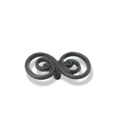 Double Swirl Design Black Knob