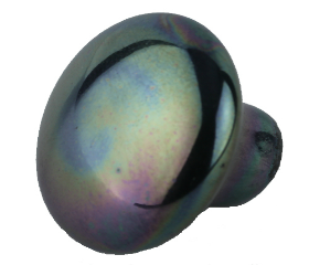 """Black Iridescent Ceramic Knob - 1 1/2"""""""