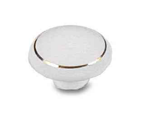 "Ceramic White Knob 1-1/2"""