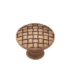 Antique Copper Basket Weave Knob  1 3/16""