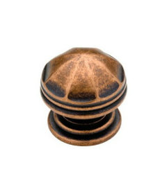 "Antique Copper Domed Knob 1 3/16"""