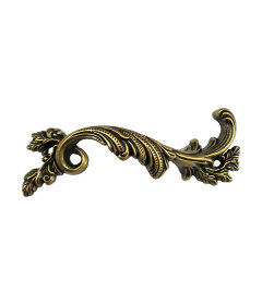 Antique Brass French Provincial Right Hand Drawer Pull