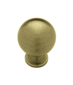 "Satin Bronze Antique  Ball-Shaped Rockefeller Knob 1 3/16"""
