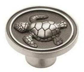 "Betsy Fields Turtle Knob 1 3/8"""