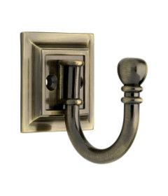 Antique Brass Brainerd Single Architectural Hook