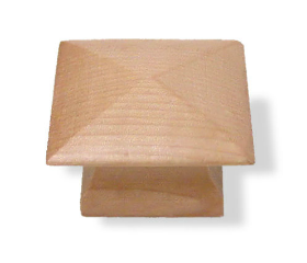 Wood Mission Style Square Pine Finished Knob - 1-1/4""