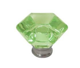 "Satin Nickel Acrylic Faceted Knob 1-1/4"""