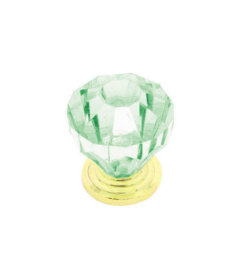 "Acrylic Light Green ""Cut"" Knob - 1.38"""