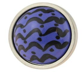 "Betsy Fields Blue Wave Knob 1-1/4"""
