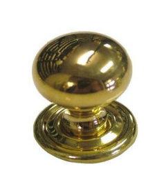 """Cast Brass Small Bulbous Knob  3/4"""""""