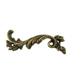 Antique Brass French Provincial Left Hand Drawer Pull