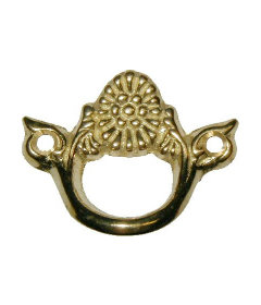 Cast Brass Victorian Style Finger Pull