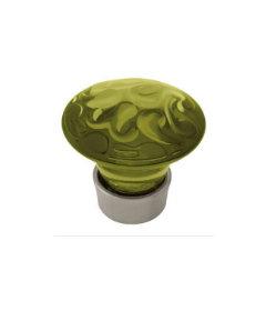 Acrylic and Satin Nickel Cabinet Knob