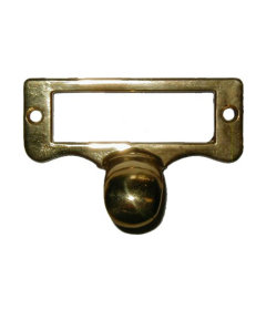 Cast Brass File Cabinet Card Holder Pull